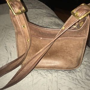 Vintage Italian leather cross body bag